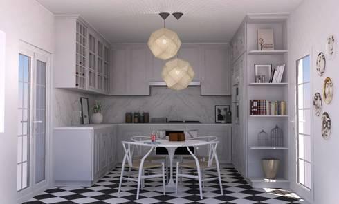 COZINHA BELOURA: Cozinhas mediterrânicas por Santiago | Interior Design Studio