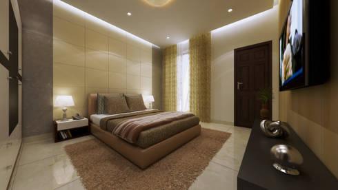 recent works: modern Bedroom by Freelance  3D visualiser