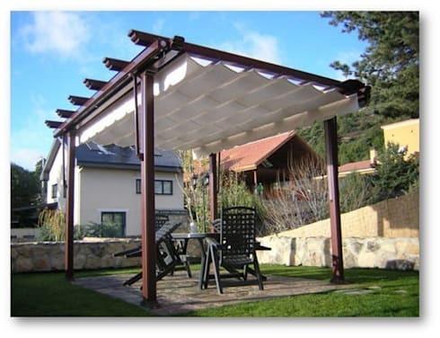 Terrazas toldos y p rgolas de sistemas gahm sl homify - Toldos y pergolas para terrazas ...