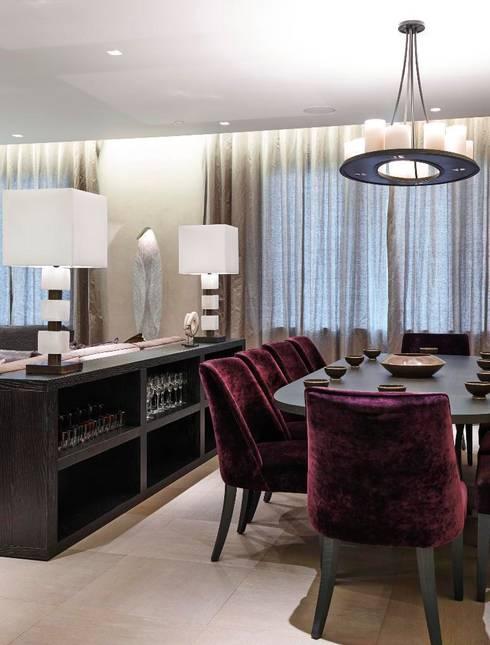 Thornwood Lodge:  Dining room by Keir Townsend Ltd.
