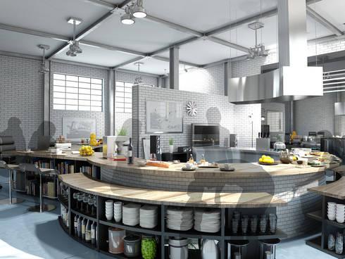 キッチンスペース1: KAWAZOE-ARCHITECTSが手掛けたキッチンです。