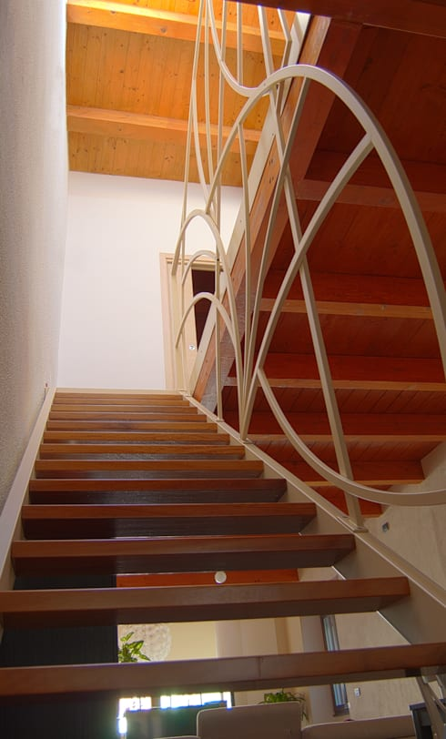 Dopo: Ingresso, Corridoio & Scale in stile in stile Mediterraneo di Studio Architettura Arch. Francesca Tronci