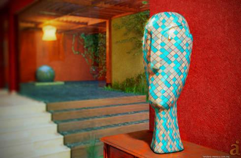 MEXICAN PATIO: Arte de estilo  por arQing