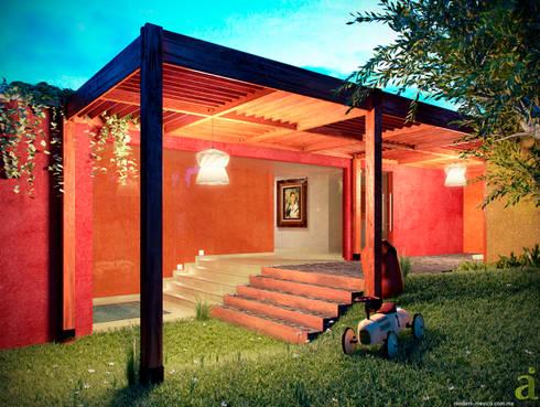 MEXICAN PATIO: Jardín de estilo  por arQing
