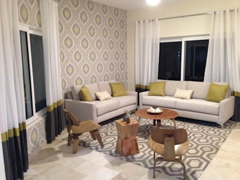 Casa Melchor Ocampo: Salas de estilo moderno por DECO designers