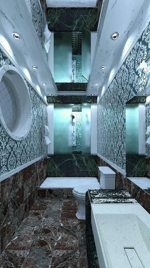 Projekty,  Łazienka zaprojektowane przez Nada-Design Студия дизайна.