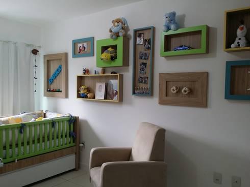 A&P.P - Quarto de Bebê: Quarto infantil  por Kali Arquitetura