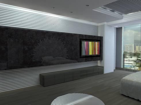 P14T2404: Recámaras de estilo moderno por Arq. Jacobo Smeke