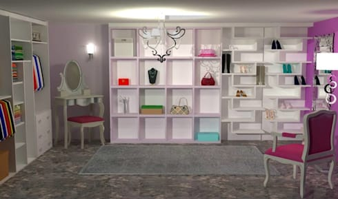 Walk in Wardrobe: classic Dressing room by Piwko-Bespoke Fitted Furniture