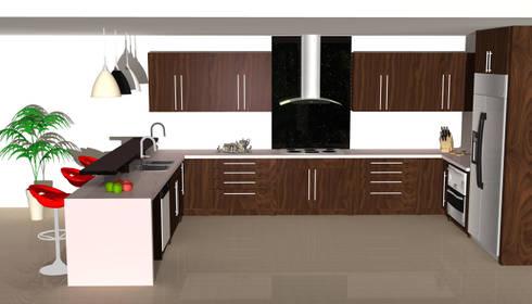 Bespoke Kitchen.: modern Kitchen by Piwko-Bespoke Fitted Furniture