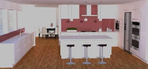 White  Modern High-Gloss Kitchen.: modern Kitchen by Piwko-Bespoke Fitted Furniture