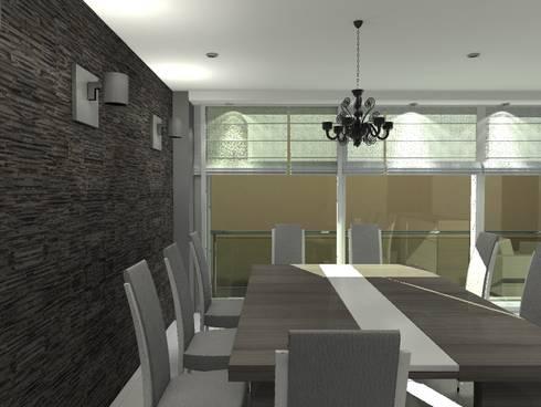 BRT1202: Comedores de estilo moderno por Arq. Jacobo Smeke