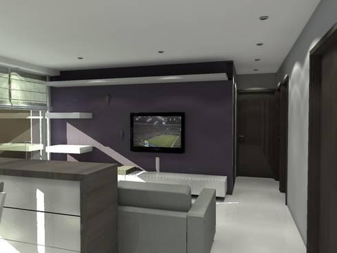 BRT1202: Salas multimedia de estilo moderno por Arq. Jacobo Smeke
