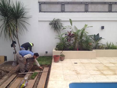 Reciclaje de un jardín con pileta descuidado de Estudio Nicolas ...