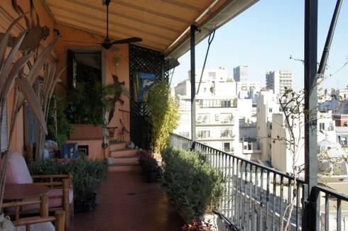 Un Balcón para una Coleccionista de Arte:  de estilo  por Estudio Nicolas Pierry: Diseño en Arquitectura de Paisajes & Jardines