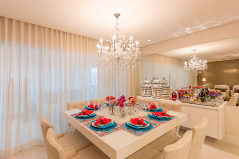 Sala de Jantar: Salas de jantar clássicas por Dauster Arquitetura