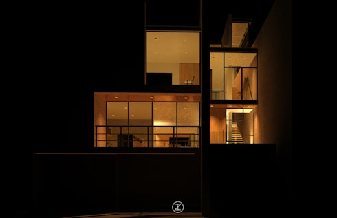 Casa Ocejo: Casas de estilo industrial por Lozano Arquitectos