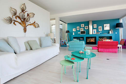 HAPPY HOME 2014: Salas de estar mediterrânicas por ROSA PURA HOME STORE