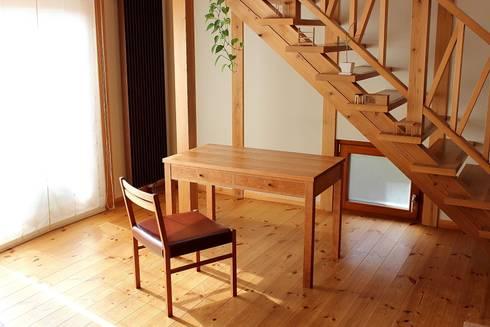 desk 01: trusty wood worksが手掛けた子供部屋です。