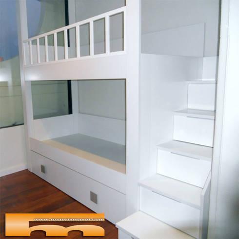 litera a medida escalera lateral habitacin infantil barcelona manel