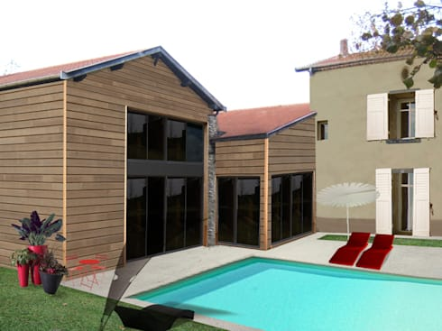 renovation maison de village par florie vaujour homify. Black Bedroom Furniture Sets. Home Design Ideas