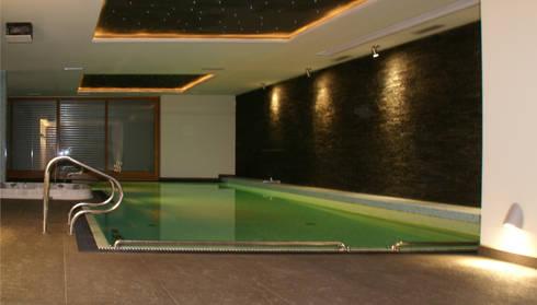 Dom z basenem w Krakowie: styl , w kategorii Basen zaprojektowany przez Architektura Wnętrz Daria Zaremba