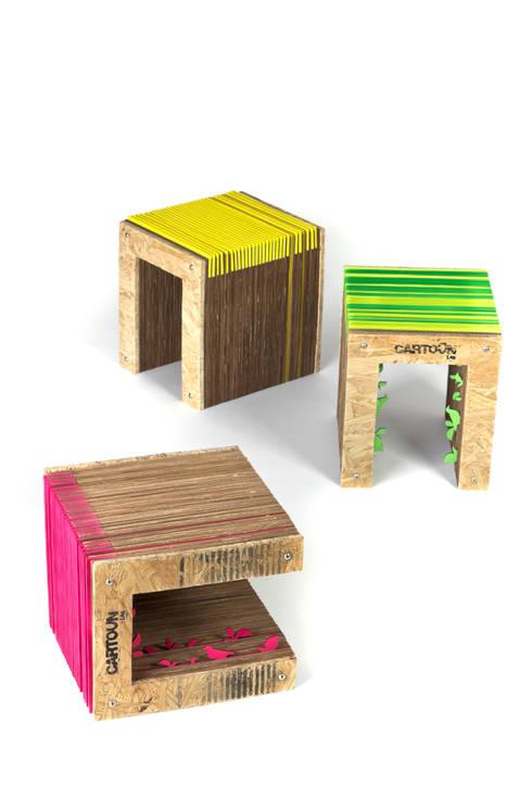Banquito Flora: Dormitorios infantiles  de estilo  por Cartoon lab