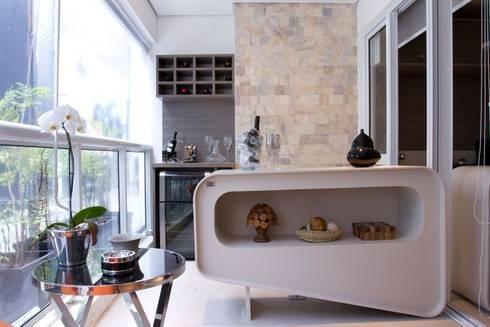 Varanda Gourmet: Terraços  por Ana Bartira Brancante Arquitetura