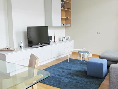 Ristrutturazione soggiorno di easy relooking homify for Soggiorno in stile new england