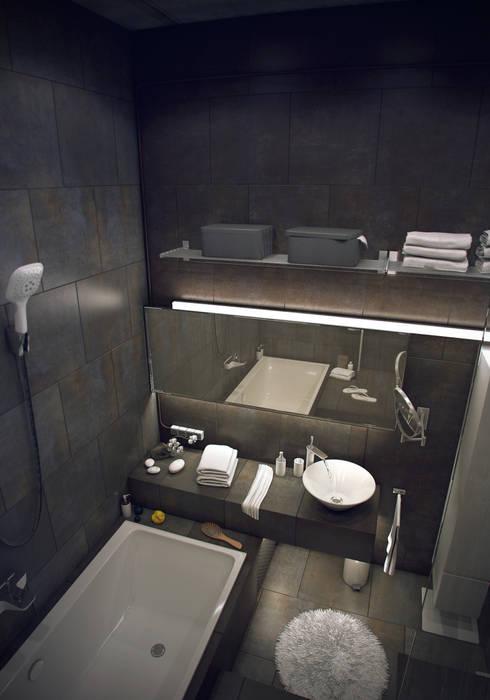 Лофт: Ванные комнаты в . Автор – ToTaste.studio