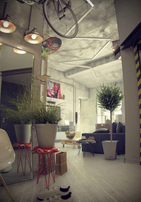industrial Living room by ToTaste.studio