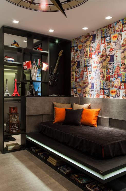 Projekty,  Sypialnia zaprojektowane przez Celia Beatriz Arquitetura