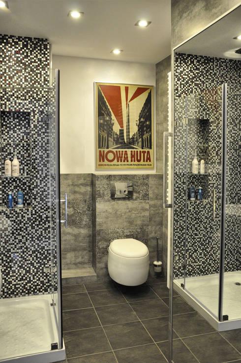 Mieszkanie dwupoziomowe w Kiełczowie: styl , w kategorii Łazienka zaprojektowany przez Pracownia Kaffka