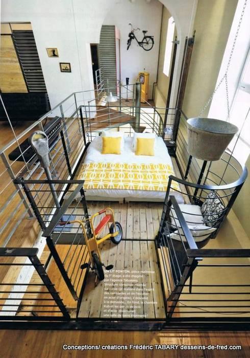 Dormitorios de estilo industrial de Tabary Le Lay