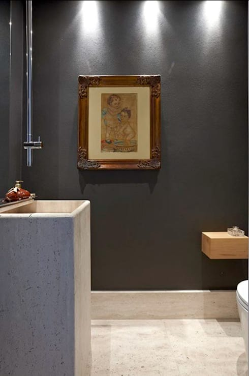 Apartamento Ninho: Banheiros  por Coutinho+Vilela