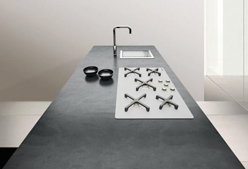 Piani top cemento di inmateria homify - Piani cucina cemento ...