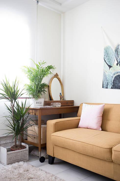 Salas de estar ecléticas por www.rocio-olmo.com