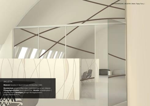 Akustik Decke Dekoration : Raumteiler wand und deckendekoration glastrennwand by tela