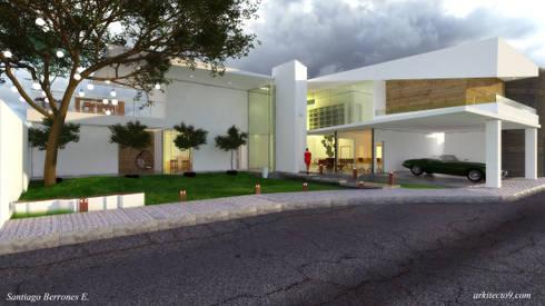 Casa CH 1: Casas de estilo moderno por arkitecto9.com