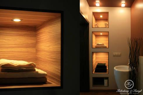 HABAN: styl , w kategorii Łazienka zaprojektowany przez Kołodziej & Szmyt Projektowanie wnętrz