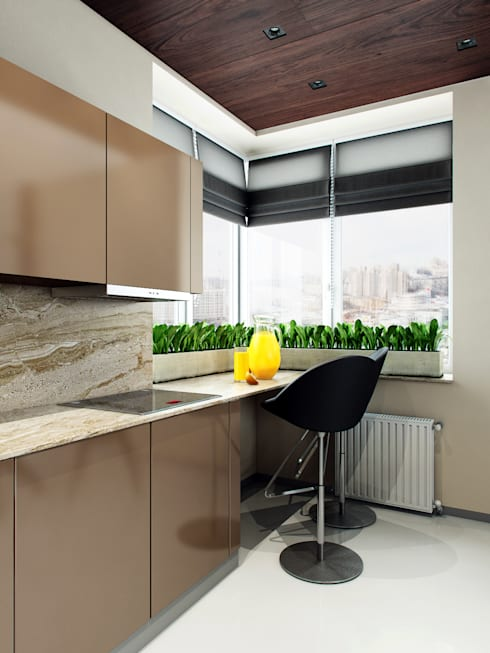 Квартира в ЖК Чемпион-парк: Кухни в . Автор – Михаил Новинский (MNdesign)