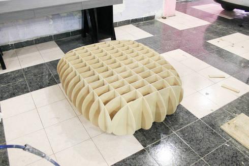 Muebles casa habitacion: Salas de estilo moderno por Nesign - Diseño y fabricación de muebles.