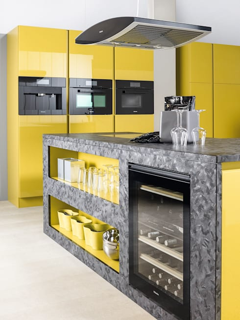 cuisine jaune por cuisine essentiel homify. Black Bedroom Furniture Sets. Home Design Ideas