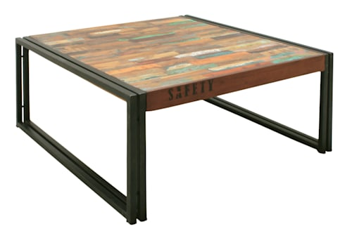 Industrial Square Coffee Table From Our Urban Chic Range