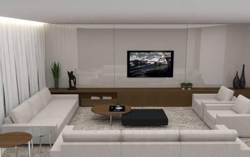 Living: Salas de estar minimalistas por Ana Paula Carneiro Arquitetura e Interiores