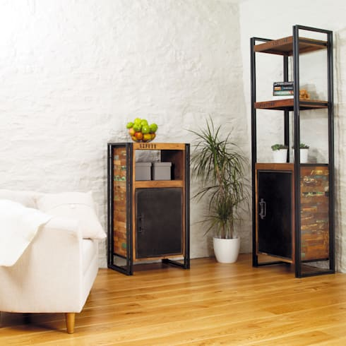 Industrial Bookcase With Cupboard From Our Urban Chic Range