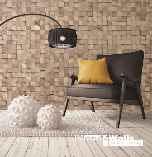 Wood4Walls | Purity Spalt Nut:  Muren & vloeren door Nature at home | Cocomosaic | Wood4Walls