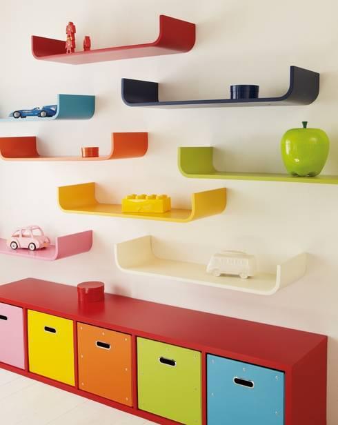 Tessera Curved Shelf :  Nursery/kid's room by ASPACE
