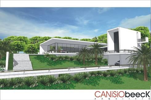 A8 Residência: Casas modernas por Canisio Beeck Arquiteto