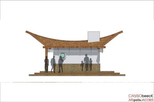 Churrasqueira: Garagens e edículas tropicais por Canisio Beeck Arquiteto